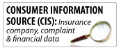 Consumer Information Source (CIS): Insurance company complaint & financial data