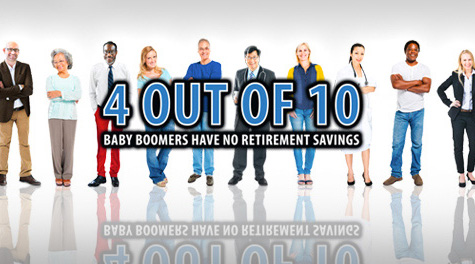 Four out of Ten Baby Boomers Have No Retirement Savings