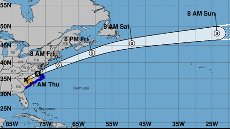 See Path of Tropical Storm Michael